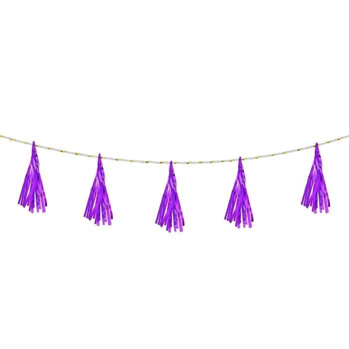 Лента тассел, набор 5 шт., цвет фиолетовый