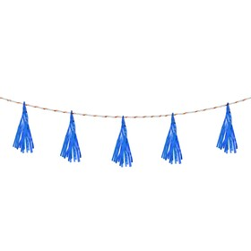 Лента тассел, набор 5 шт., цвет синий