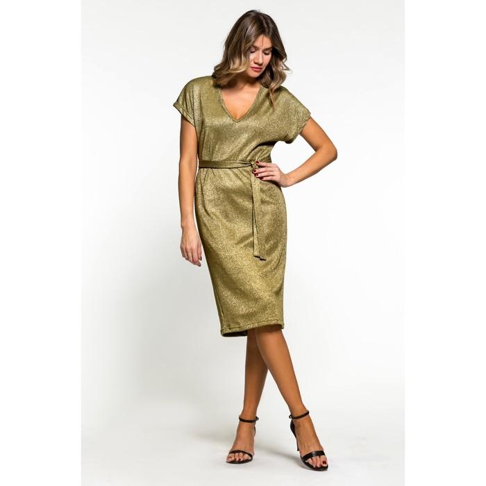 34a53a6534d5d50 Платье прямое с поясом, р. 44-46, цвет зеленый (3986166) - Купить по ...