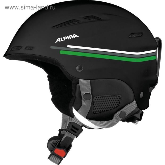 Зимний шлем Alpina 2018-19 BIOM black-grey-green, обхват 50-54 см