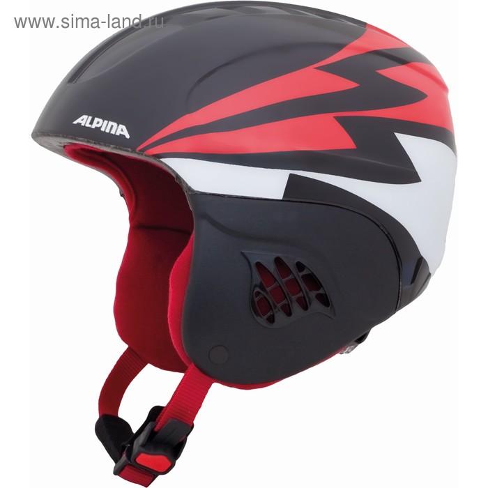 Зимний шлем Alpina 2018-19 CARAT black-red, обхват 48-52 см