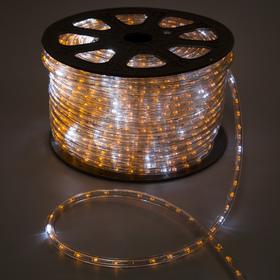 LED шнур 13 мм, круг, 100 м, кажд.6 мерц, 2W-LED/м-36-220V. + н-р д/подкл, ЖЕЛТЫЙ