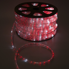 LED string 13 mm, round, 100 m each.6 Merz, 2W-LED/m-36-220V. + n-R d/div. RED