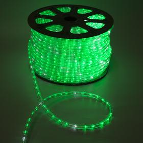 LED шнур 13 мм, круг, 100 м, кажд.6 мерц, 2W-LED/м-36-220V. + н-р д/подкл, ЗЕЛЕНЫЙ