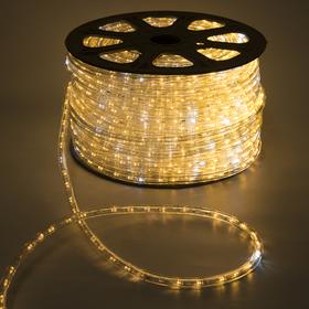 LED шнур 13 мм, круг, 100 м, кажд.6 мерц, 2W-LED/м-36-220V. + н-р д/подкл, Т/БЕЛЫЙ