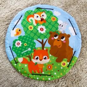 Развивающий коврик - сумка для игрушек «Зверята», р - р 103х103х0,5 см.