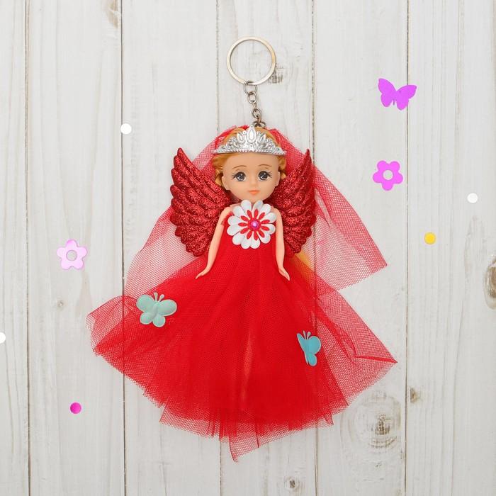 "Кукла-брелок ""Ангел"" с бантом, цвета МИКС"