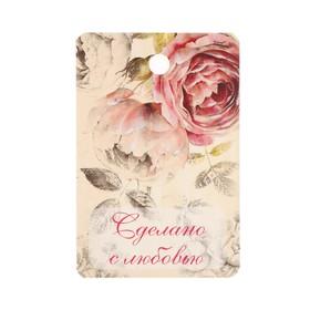 Бирка картон 'Розы ретро' двусторонняя 4х6 см Ош