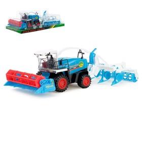 Трактор инерционный «Комбайн», с прицепом, цвет МИКС