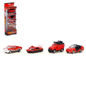 """A set of metal toy cars """"Fire"""", 4 pieces, MIX"""