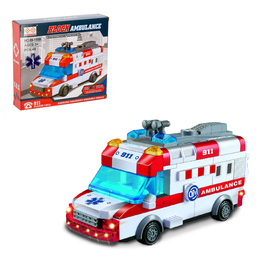 "Designer block ""Ambulance"", light and sound effects, drives, 48 items"