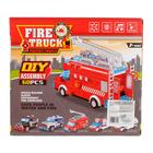 Конструктор блочный «Пожарный фургон», световые и звуковые эффекты, ездит, 60 деталей - фото 105632478