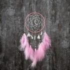 """Ловец снов """"Кисточки с розовыми пёрышками"""" 40х15 см"""