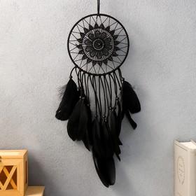 """Ловец снов """"Кружевница"""" чёрный 35х15 см"""