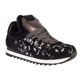 Кроссовки женские, цвет чёрный, размер 36