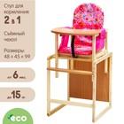 Стульчик для кормления «Бутуз», трансформер, цвет розовый - фото 1555288