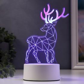 """Светильник """"Олень"""" LED RGB от сети 10х11,5х21,4см"""