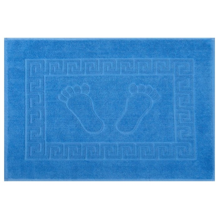 Полотенце для ног махровое 50х70 см ,670 гр/м,100% хлопок голубой