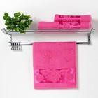 "Полотенце махровое ""Florans"" 30х50 см, розовый 450 г/м2, бамбук 100 %"