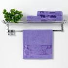 "Полотенце махровое ""Florans"" 30х50 см, сиреневый 450 г/м2, бамбук 100 %"