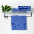 """Полотенце махровое """"Florans"""" 30х50 см, синий, 450 г/м2, бамбук 100 %"""