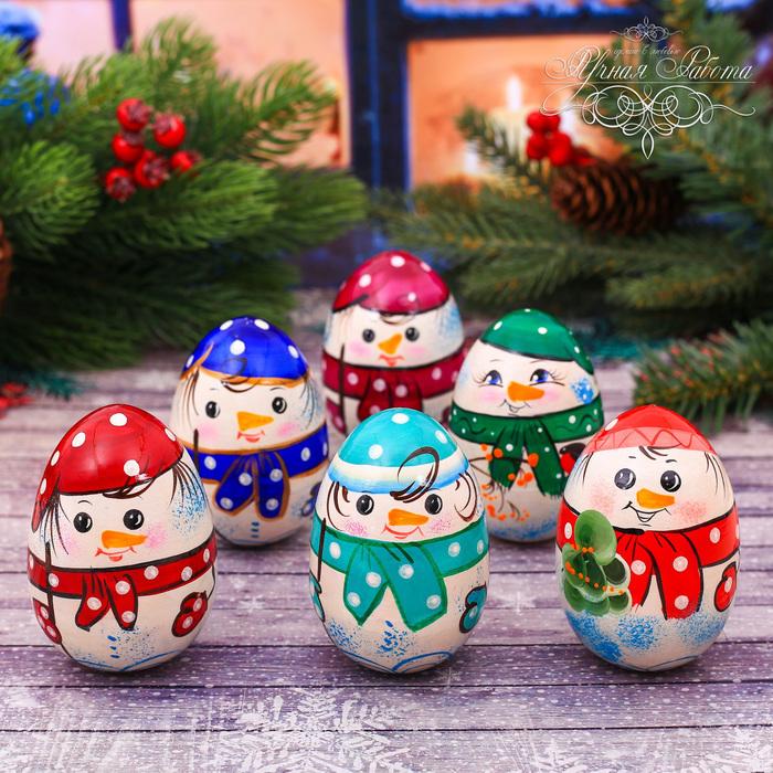 Неваляшка «Снеговик», 5 цветов МИКС