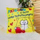 """Мягкая игрушка подушка - антистресс Котэ """"Любовь к тебе меня переполняет!"""""""