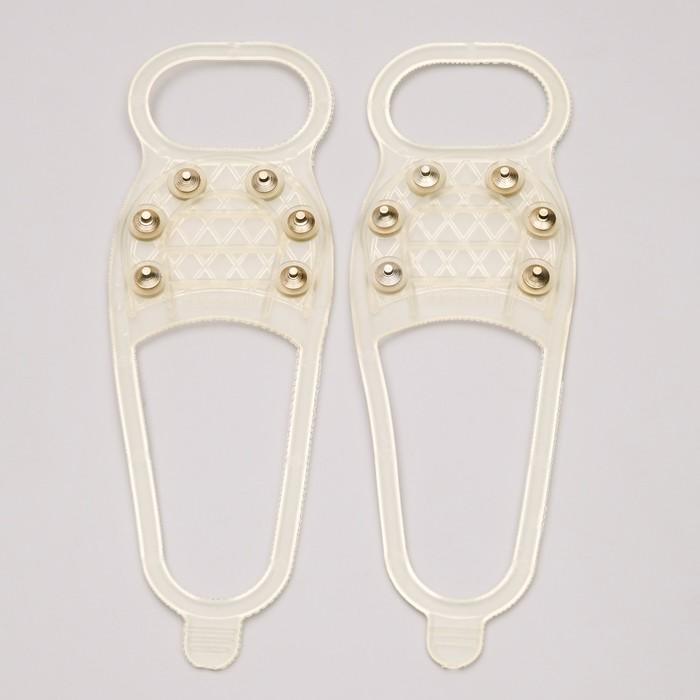 Ледоходы Стандарт 6+6 шипов для светлой обуви, серые, для 35 - 45 размера