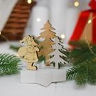 """Новогодний декор с подсветкой """"Дед мороз с подарочком"""""""