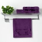 """Полотенце махровое """"Florans"""" 30х50 см, фиолетовый 450 г/м2, бамбук 100 %"""