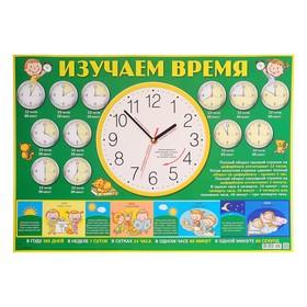 Плакат 'Изучаем время' А2 Ош