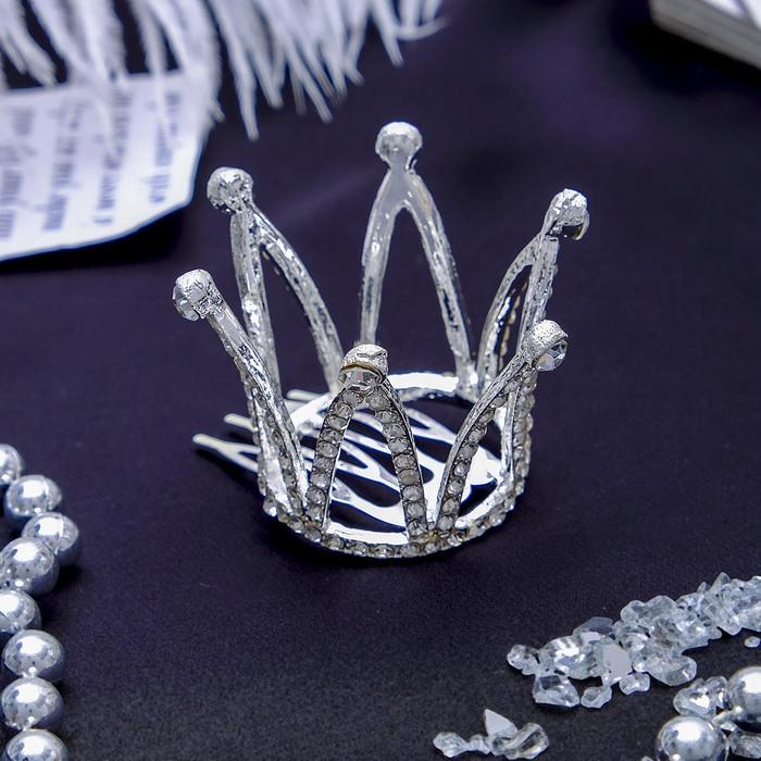 Диадема для волос «Сирена», 3,5 × 3,2 см, на гребне, корона