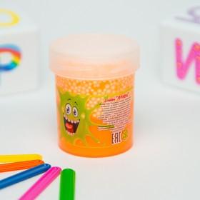 Слайм «Плюх»,оранжевый с шариками, туба 40 г в Донецке