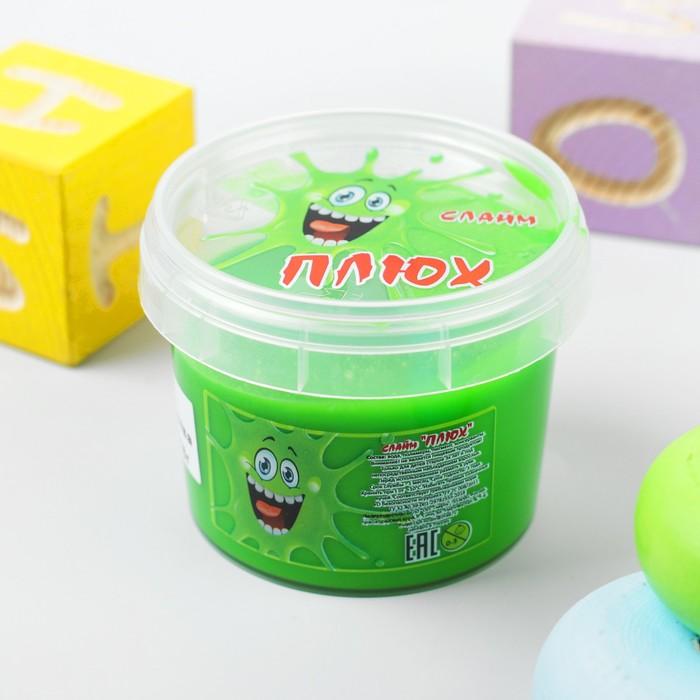 Слайм «Плюх»,зеленый, контейнер 90 г - фото 7361358