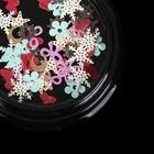 Пайетки для ногтей «Ассорти», бумажные, цвет МИКС