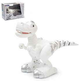 """Interactive robot """"Intelligent Dinosaur"""" with a movable tail, walks, reacts to touch, battery powered"""