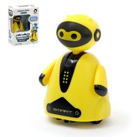 Робот «Умный бот», ездит по линии, световые эффекты, цвет жёлтый