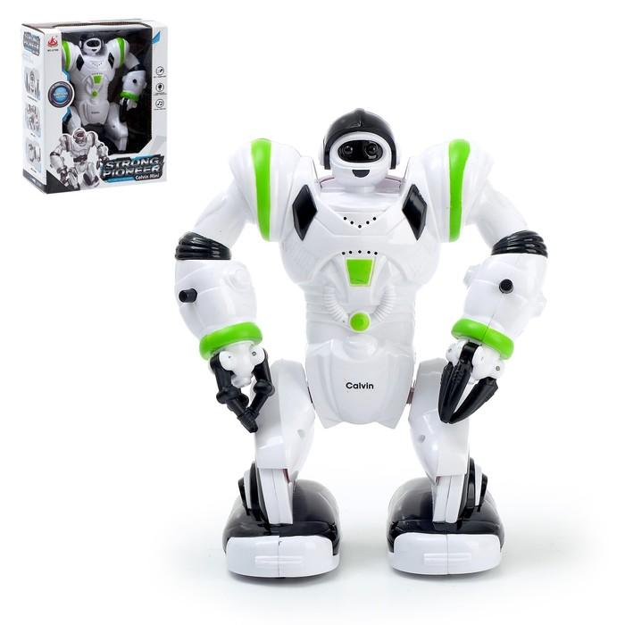 Робот «Кельвин», ходит, световые и звуковые эффекты, работает от батареек