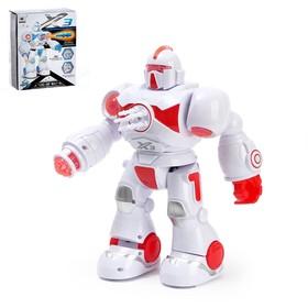 Робот «Ракетчик» световые и звуковые эффекты, стреляет ракетами, работает от батареек, цвета МИКС