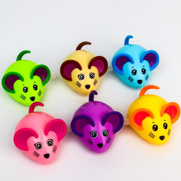 Заводная игрушка «Мышка», цвет МИКС