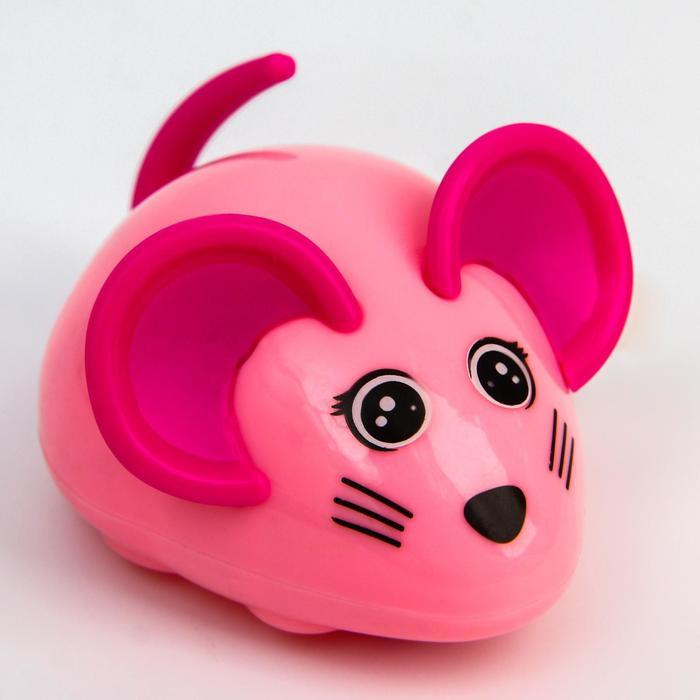 Заводная игрушка «Мышка», цвет МИКС - фото 77414965