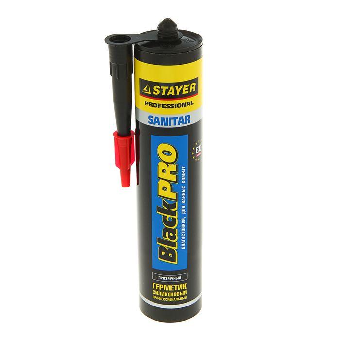 Герметик Stayer Master, санитарный, прозрачный, для помещений с повышенной влажностью