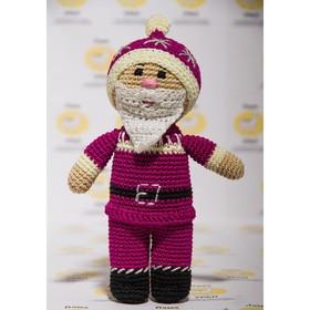 "Набор для вязания игрушки ""Дед мороз"" 15х11 см"