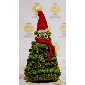 """Набор для вязания игрушки """"Новогодняя елка"""" 21х10 см"""