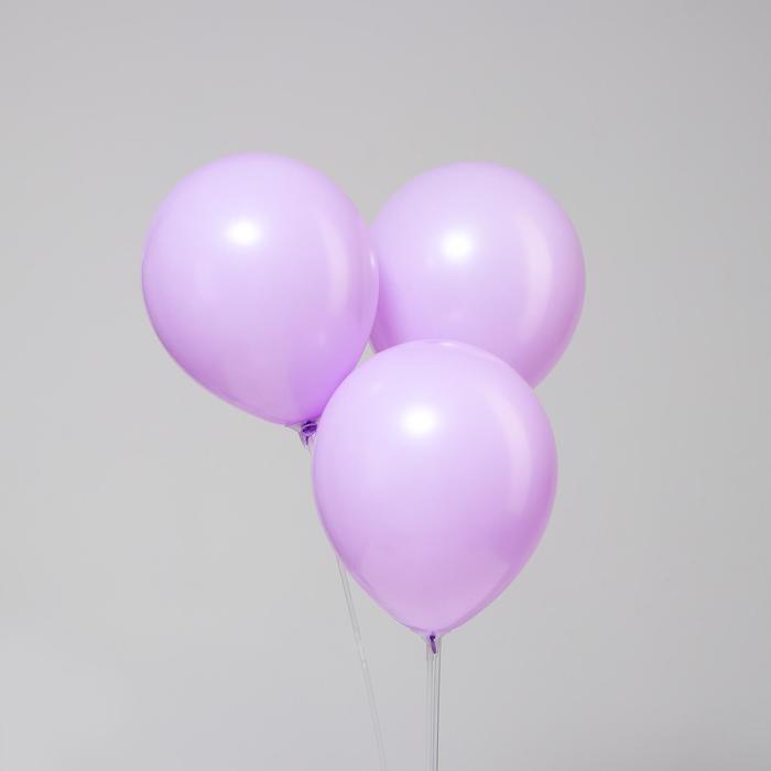 """Шар латексный 10"""" «Макарун», набор 15 шт., цвет фиолетовый - фото 952198"""