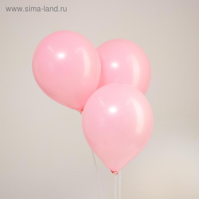 "Latex balloon 10"" ""Macaron"" set 15 PCs, color pink"