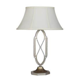 Настольная лампа Mamercus 1x60Вт E27 серебро 43x43x62см