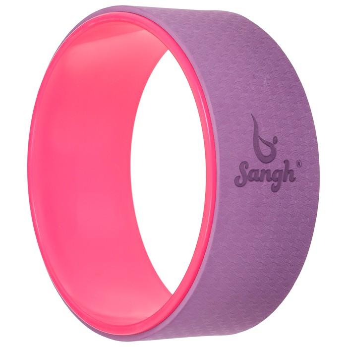 Йога-колесо «Лотос» 33 × 13 см, цвет розовый/фиолетовый