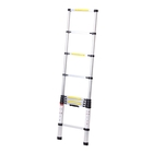 УЦЕНКА Лестница телескопическая TUNDRA premium, 9 ступеней, 2.6 м, алюминиевая