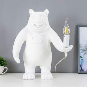Настольная лампа Bear 1x40Вт E14 белый 30x30x41см